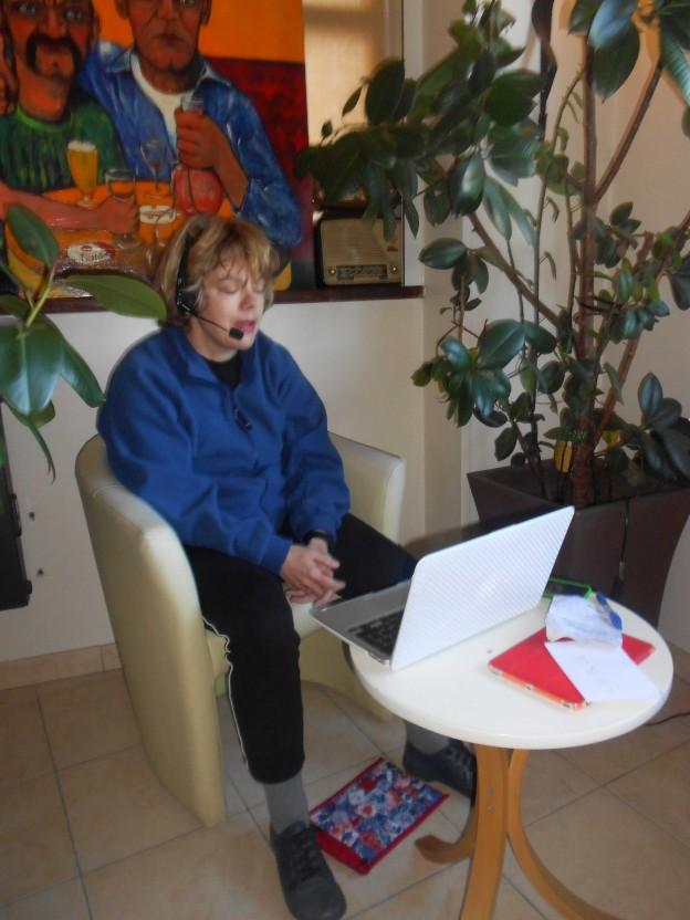 Maartje 'live' vanuit Dieppe op TV
